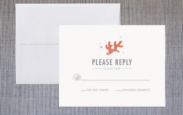 Nautical RSVP Card