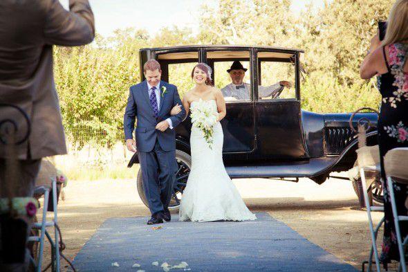 Old Car At Wedding
