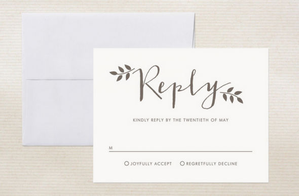 Ways to word your rsvp card rustic wedding chic for Rsvp card ideas