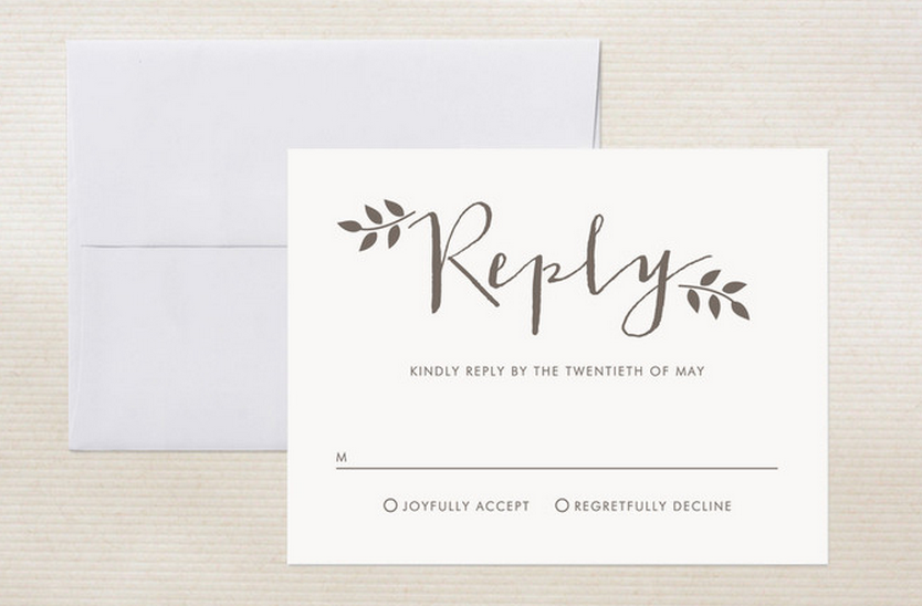 Wedding rsvp card wording ideas for Destination wedding invitation rsvp etiquette