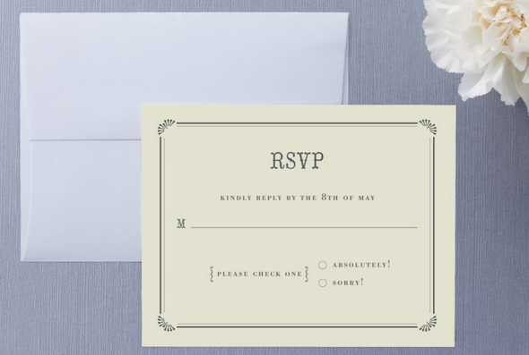 RSVP Card At Wedding