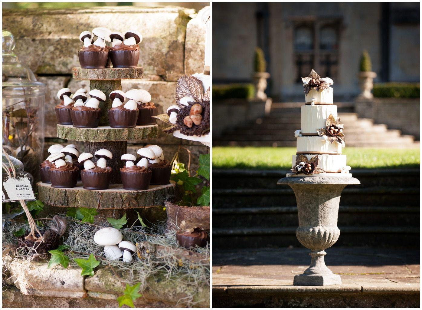 Chic Rustic Country Wedding: Woodland Themed Wedding Cake