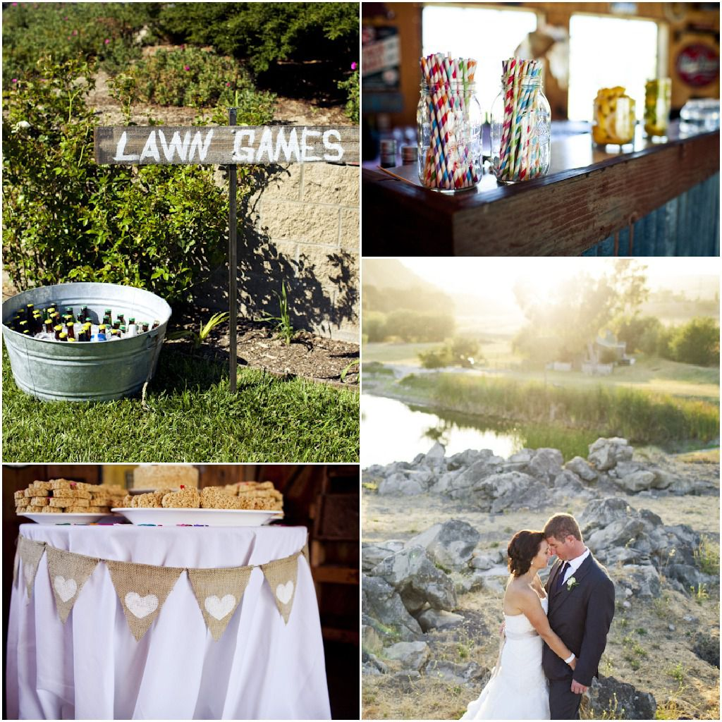 Country Wedding Centerpieces Ideas: Country California Wedding