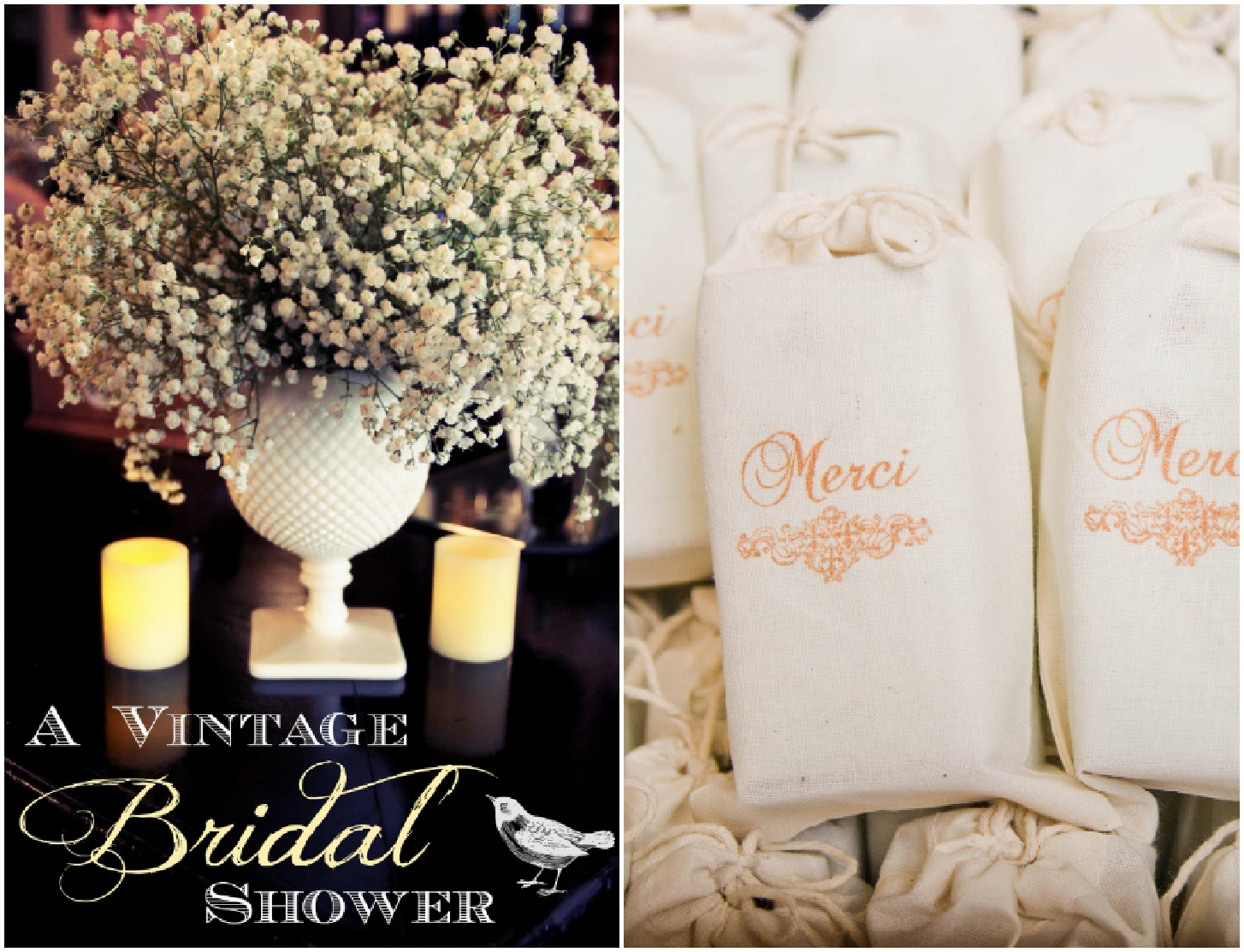 Vintage Inspired Bridal Shower  Rustic Wedding Chic