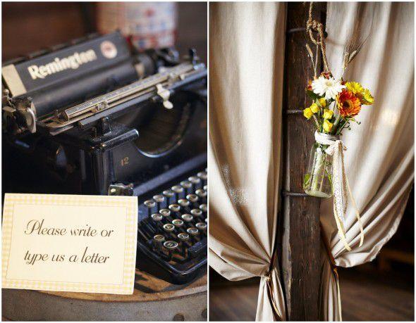 Vintage Typewriter At Wedding