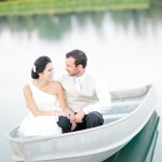Wedding Couple In Boat