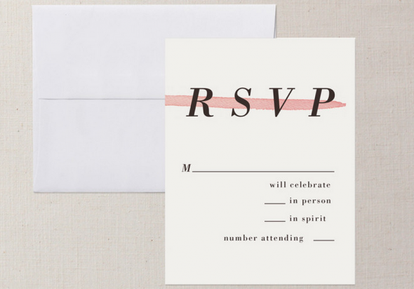 Rsvp To Wedding Invitation Wording: Ways To Word Your RSVP Card