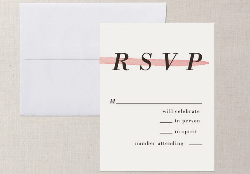 Wedding Invitation Regrets: Ways To Word Your RSVP Card
