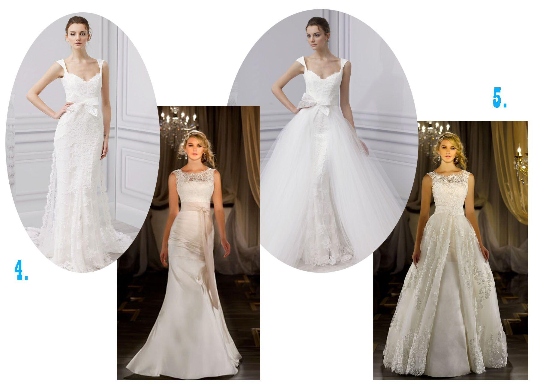Overskirt Wedding Gowns