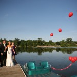 Red Balloons At Wedding