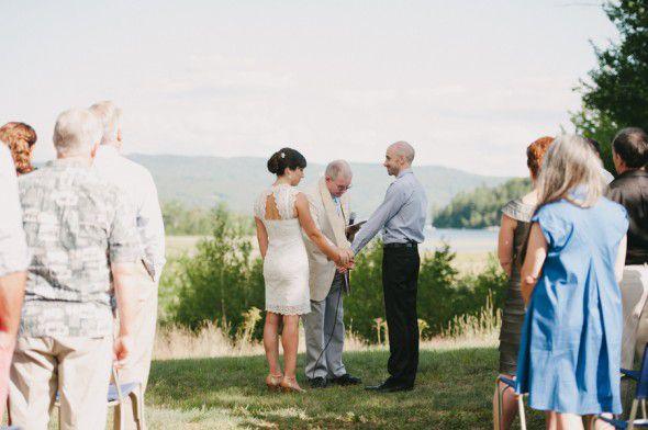 Outdoor Rustic Wedding Ceremony
