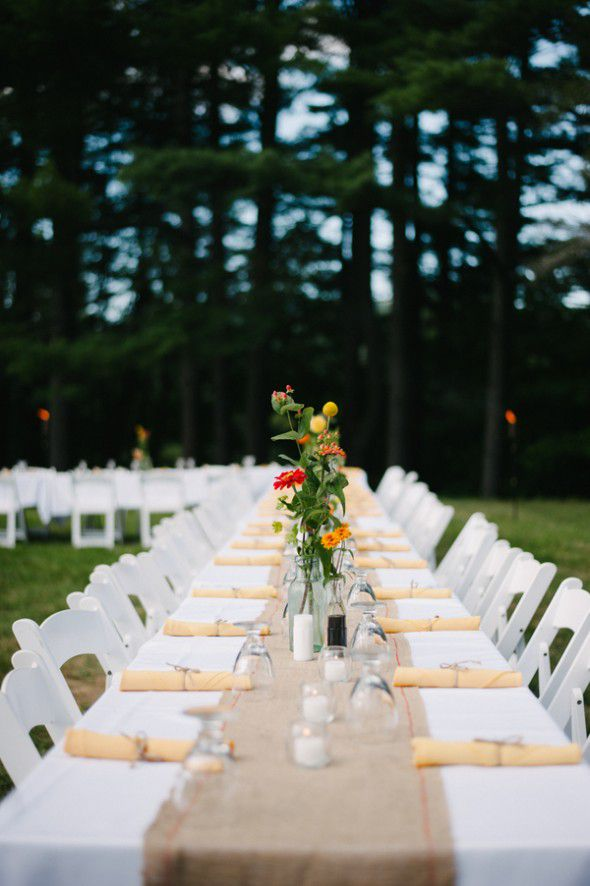 Long wedding tables