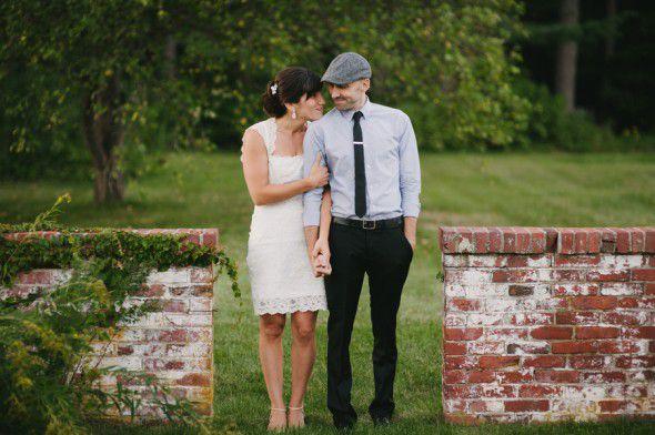 Backyard Wedding Couple