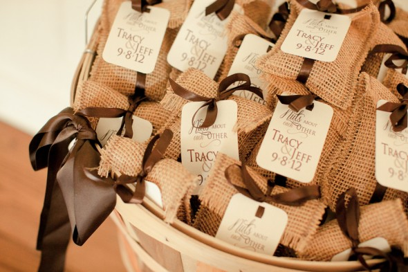 Burlap Wedding Favors