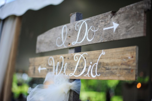 Wood Rustic Wedding Sign
