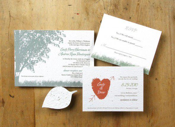 Environmentally Friendly Wedding Invitations: Eco-friendly Ideas For Wedding