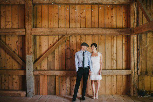 Backyard Style rustic Wedding