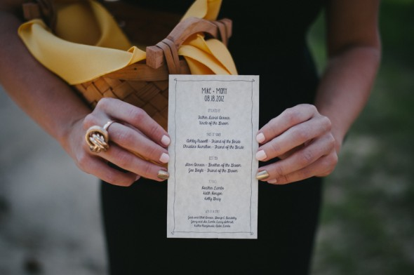 Backyard Wedding Program