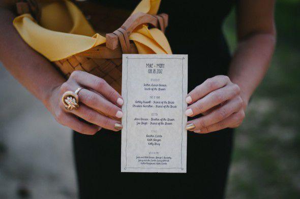 Backyard Wedding Program