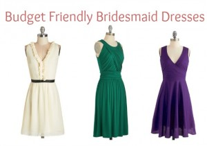 Budget Friendly Bridesmaid Dresses
