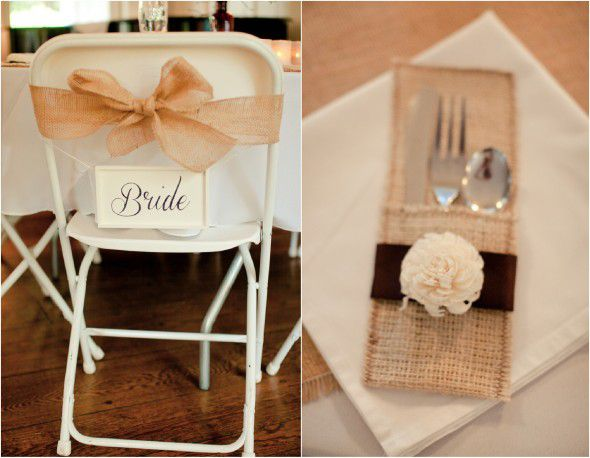 Burlap Wedding details