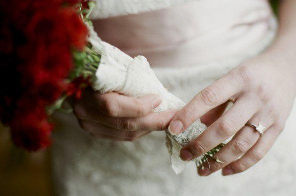 Lace Wrapped Bouquet