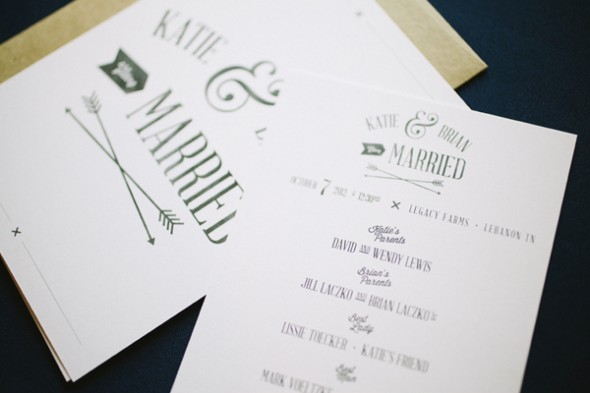 Arrow Wedding Invitations