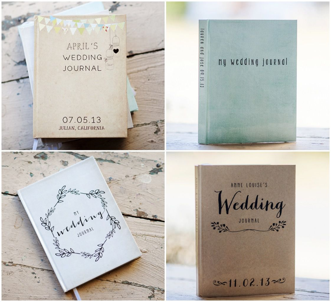 personalized wedding journal giveaway rustic wedding chic