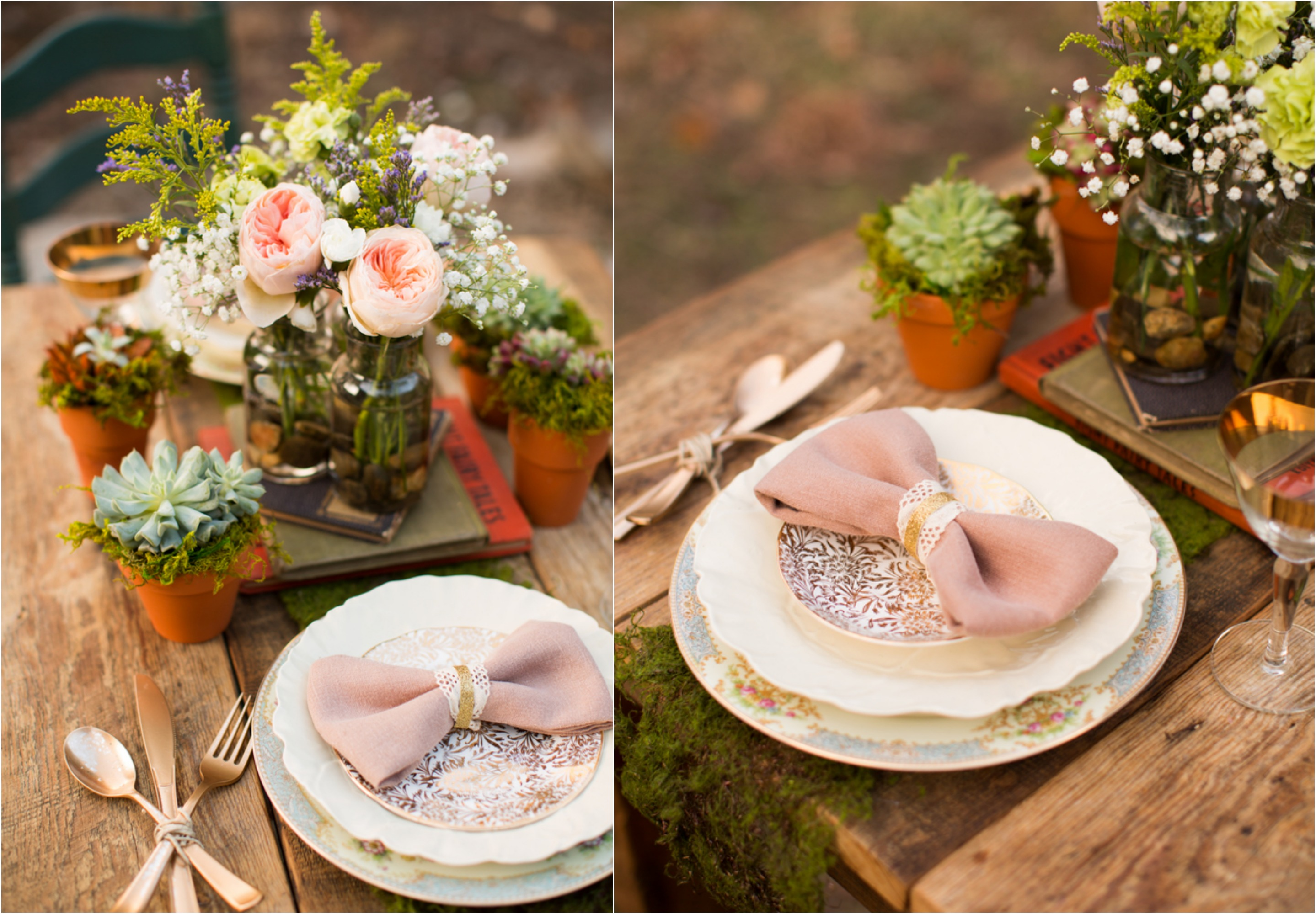 Inspiration for a vintage wedding rustic wedding chic - Deco table mariage vintage ...