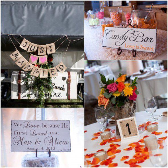 Rustic Country Wedding Decoration Ideas: Arizona Rustic Wedding