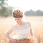 Country Wheat Wedding Bride