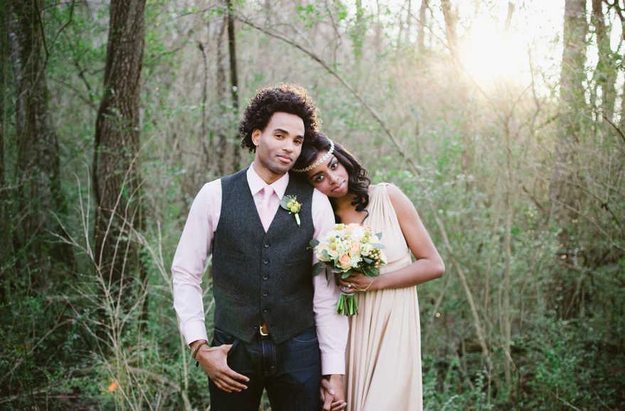 woodsy rustic wedding