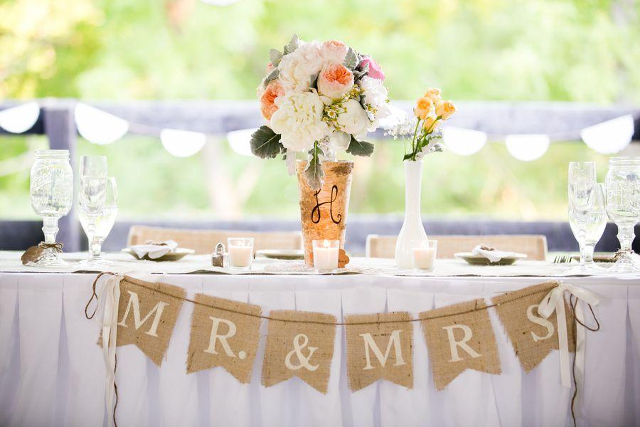 Wedding Mr Mrs Burlap