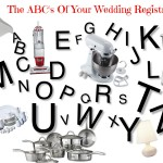 ABC's of wedding registry