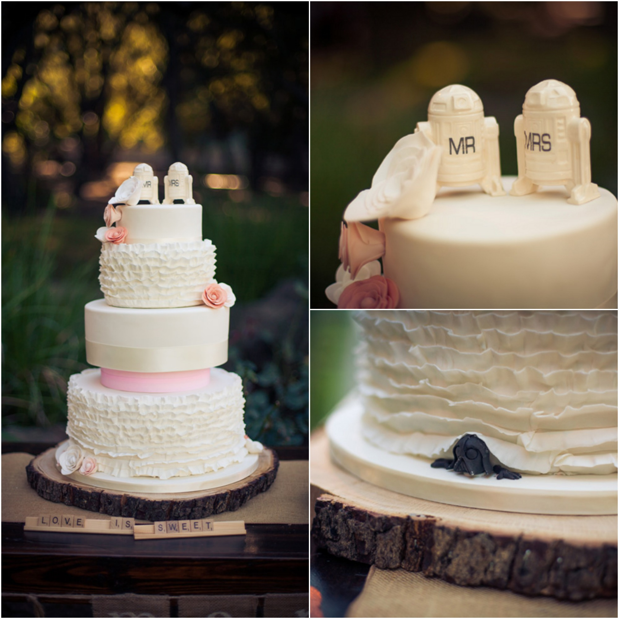 Star Wars Wedding Cake: Saddlerock Ranch Wedding Malibu California