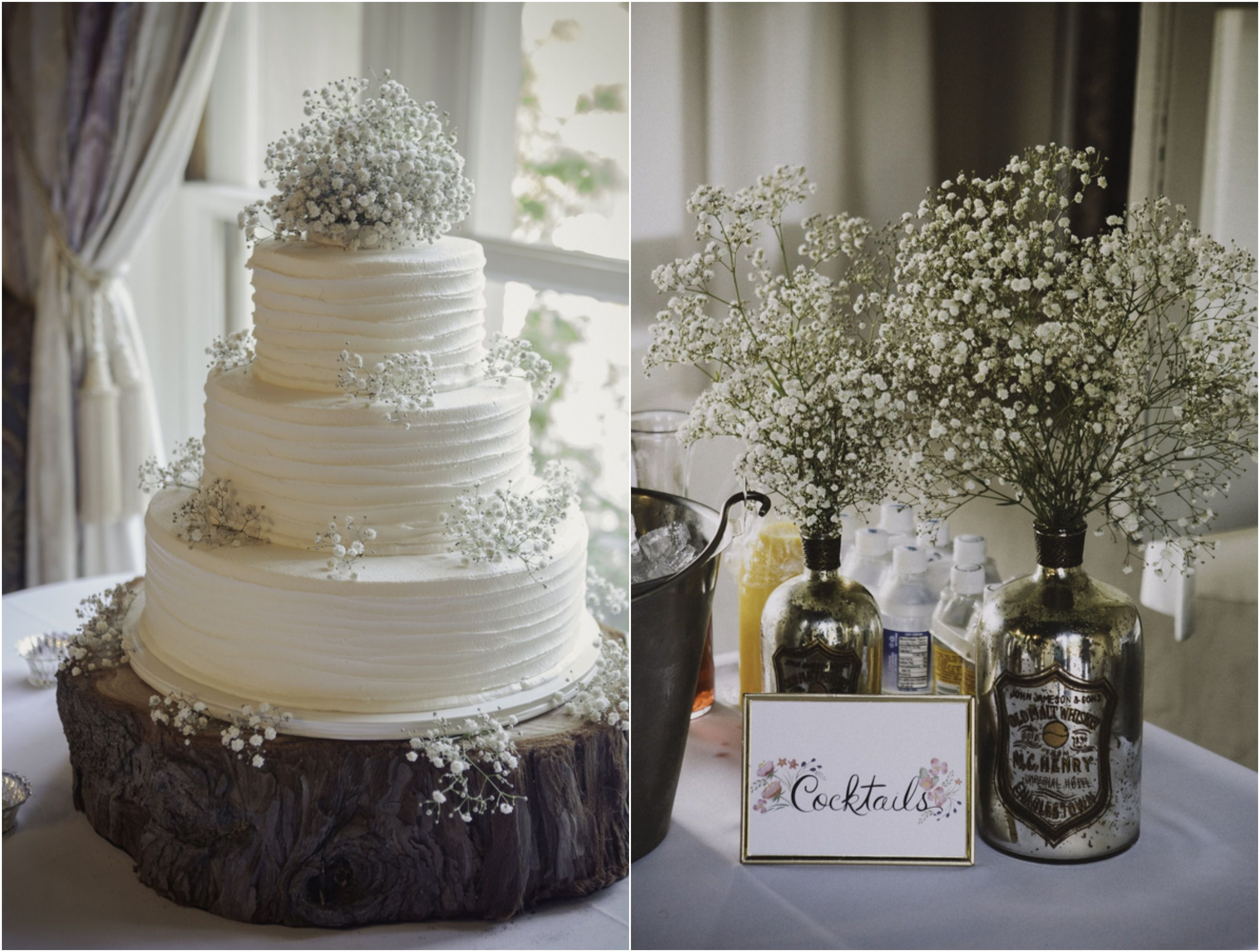 babys breath wedding cake pomona california wedding at kellogg house rustic 11002