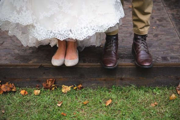 Bride In Flat Shoes