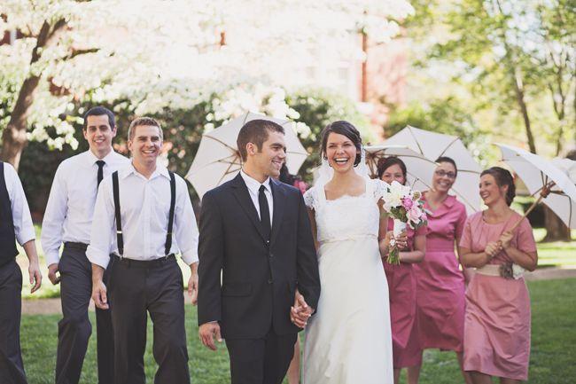 Country Wedding With Umbrella