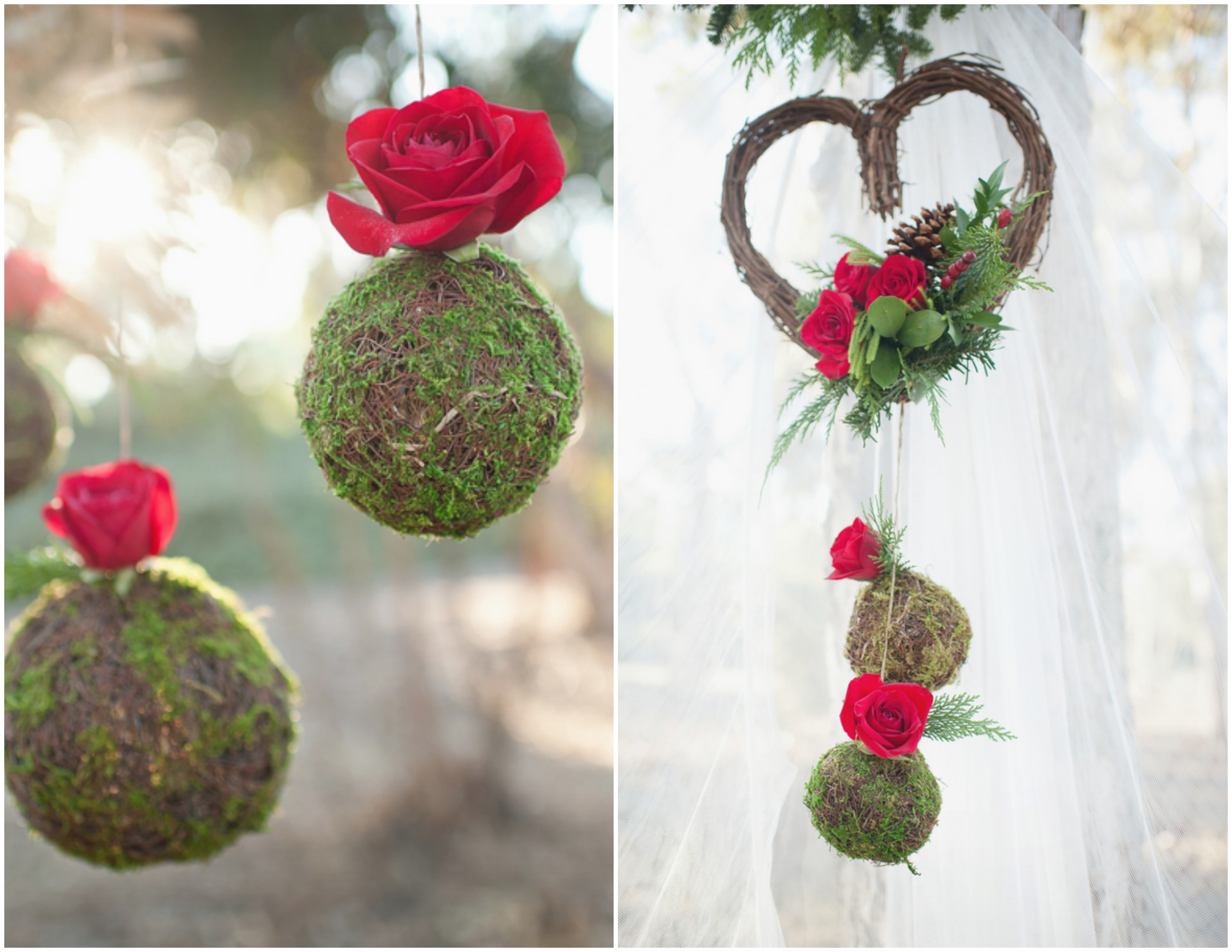 Winter rustic wedding ideas rustic wedding chic for Red decoration for wedding