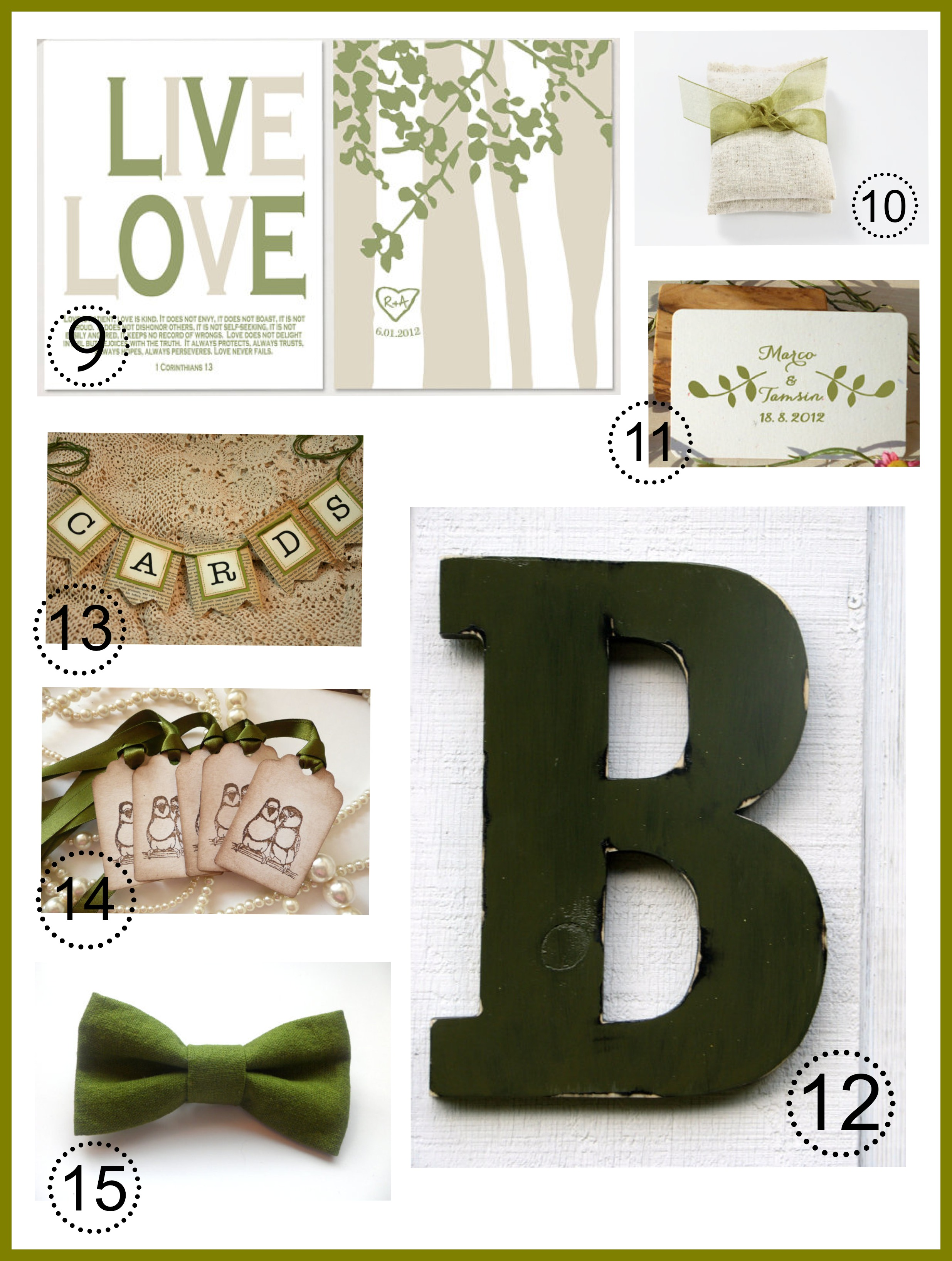 Ideas For An Olive Green Wedding Rustic Wedding Chic