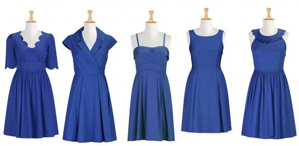 One Color Different Dresses Bridesmaids