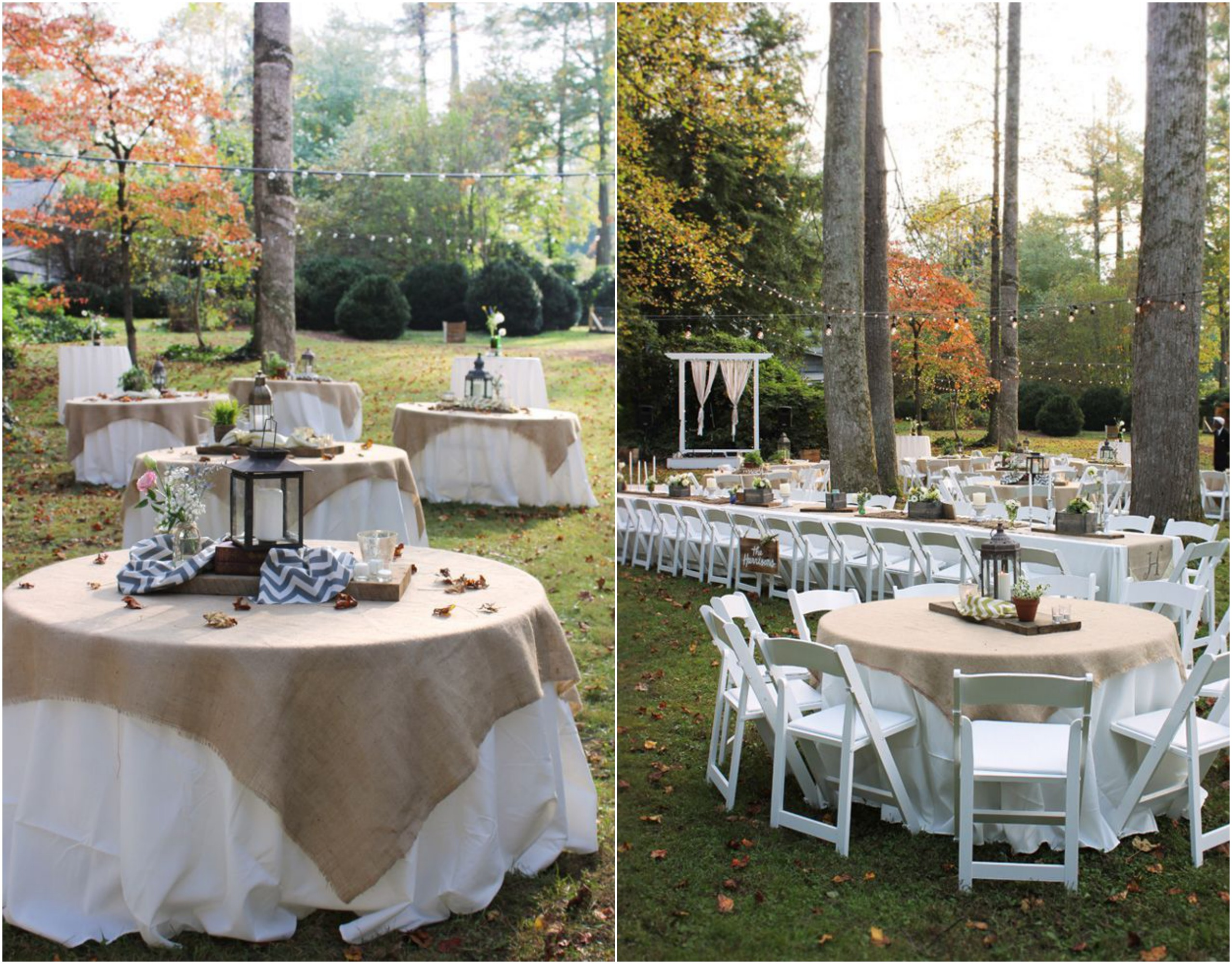 Rustic vintage backyard wedding of emily hearn rustic for Outdoor wedding reception ideas