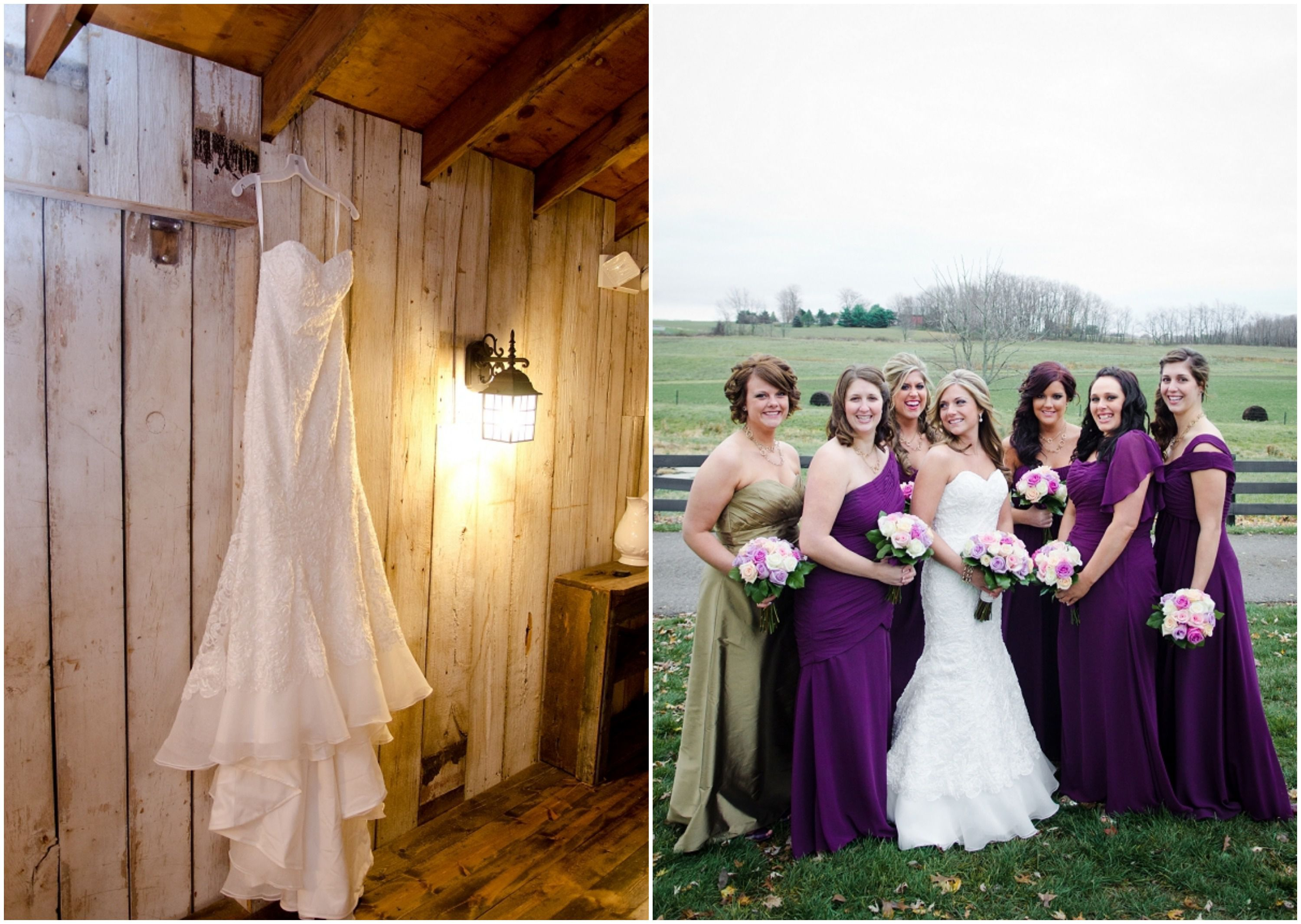 Rustic Chic Bride Purple Wedding Bridesmaid Dresses