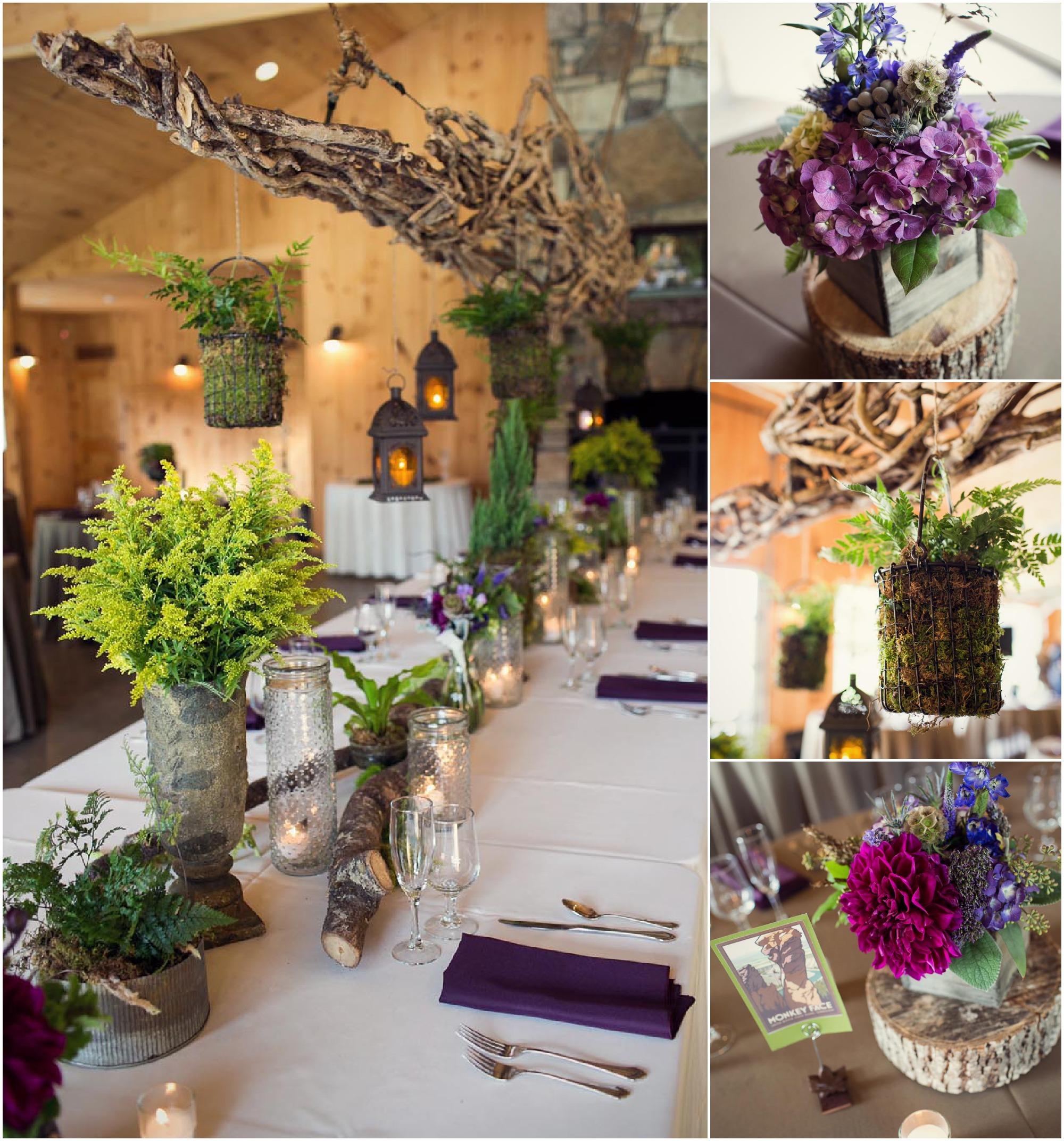 Wedding Table Flower: North Carolina Farm Wedding