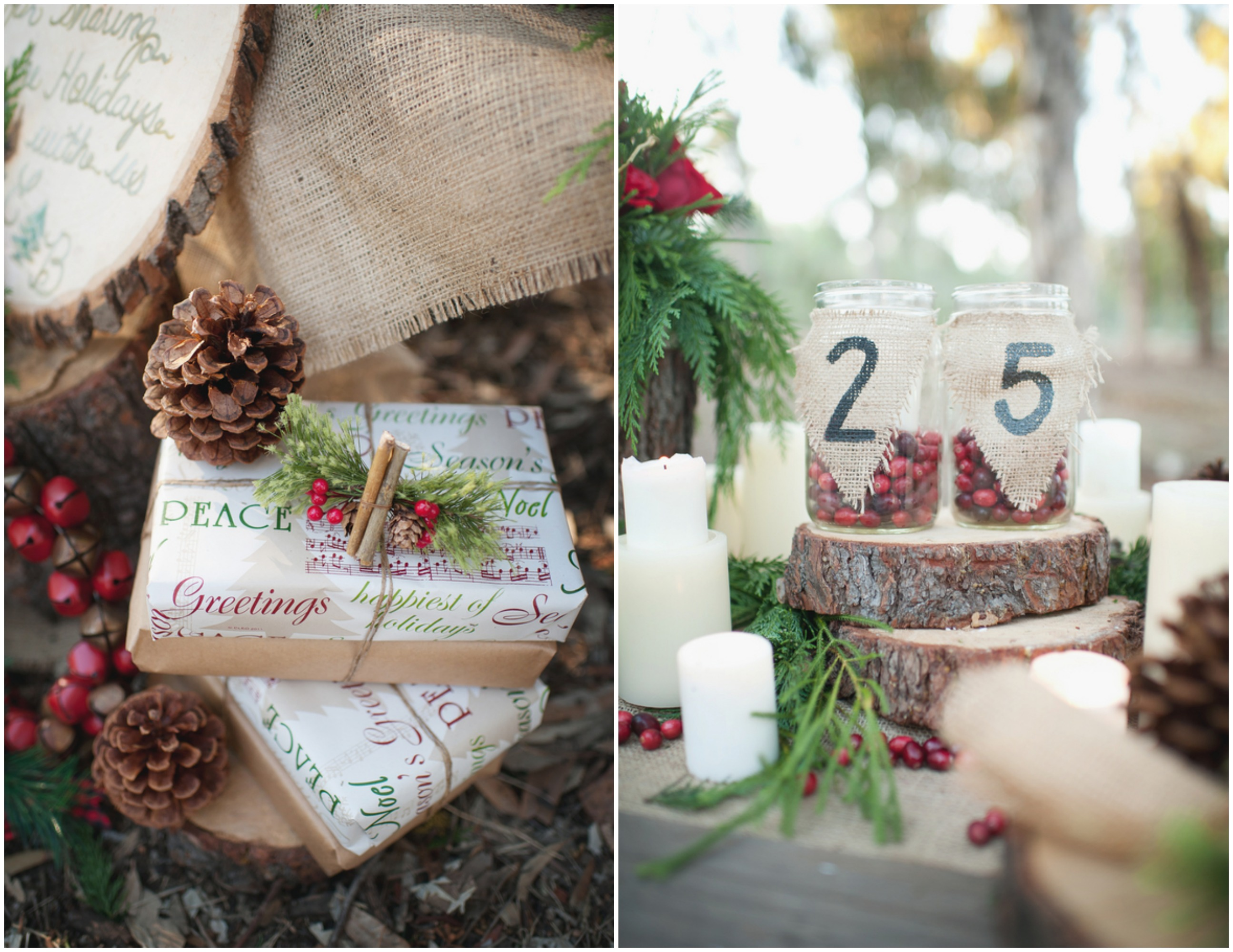 Wedding ideas rustic winter wedding for Winter themed wedding centerpieces