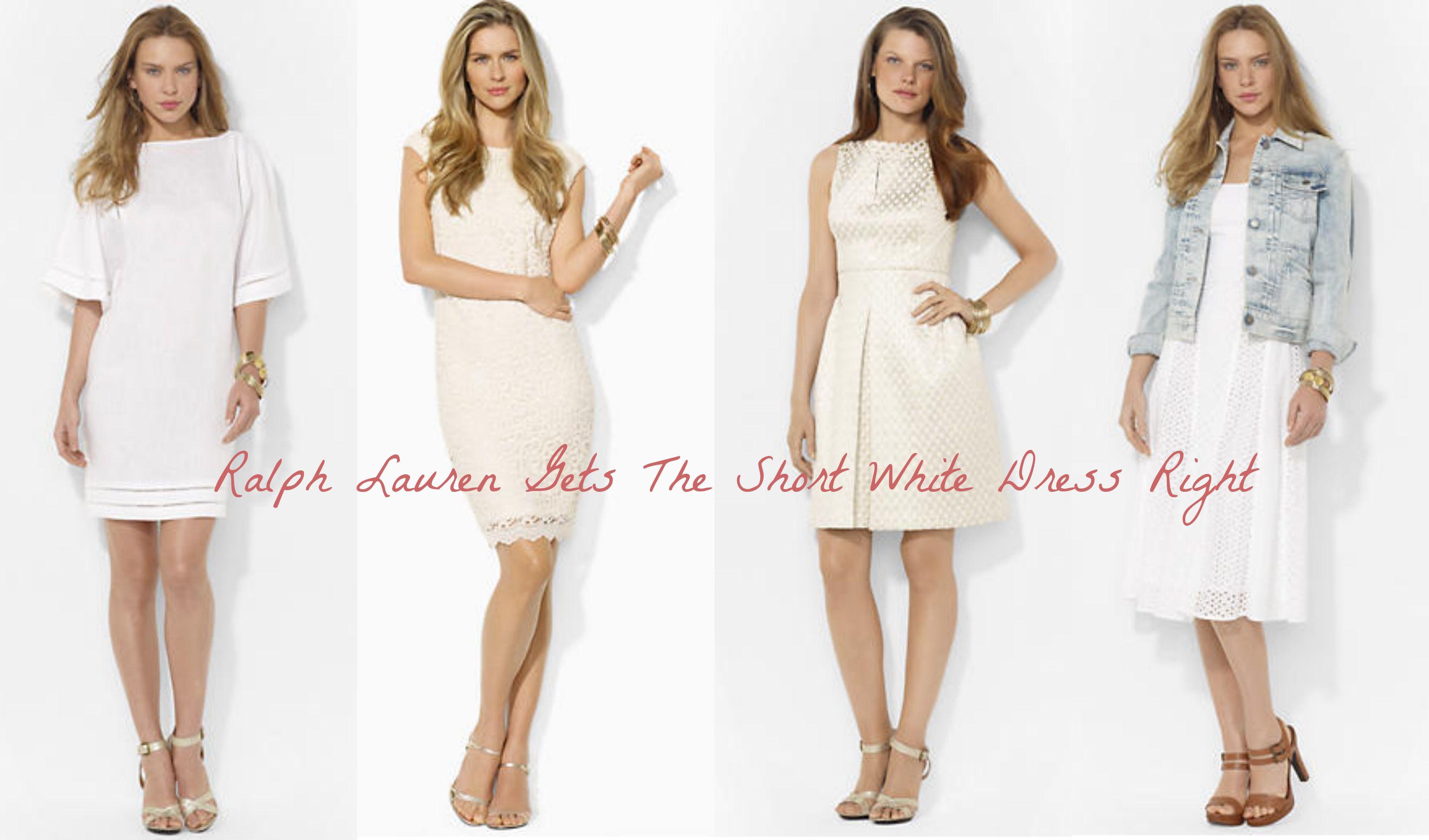Short White Dresses Ralph Lauren