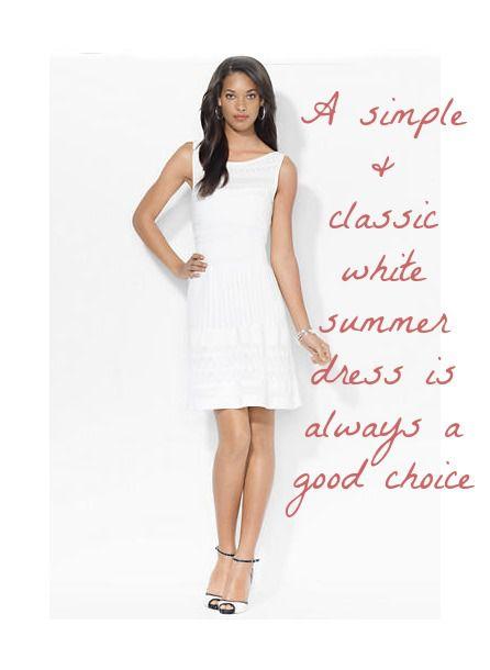 Short White Ralph Lauren Dress For Wedding - Rustic Wedding Chic