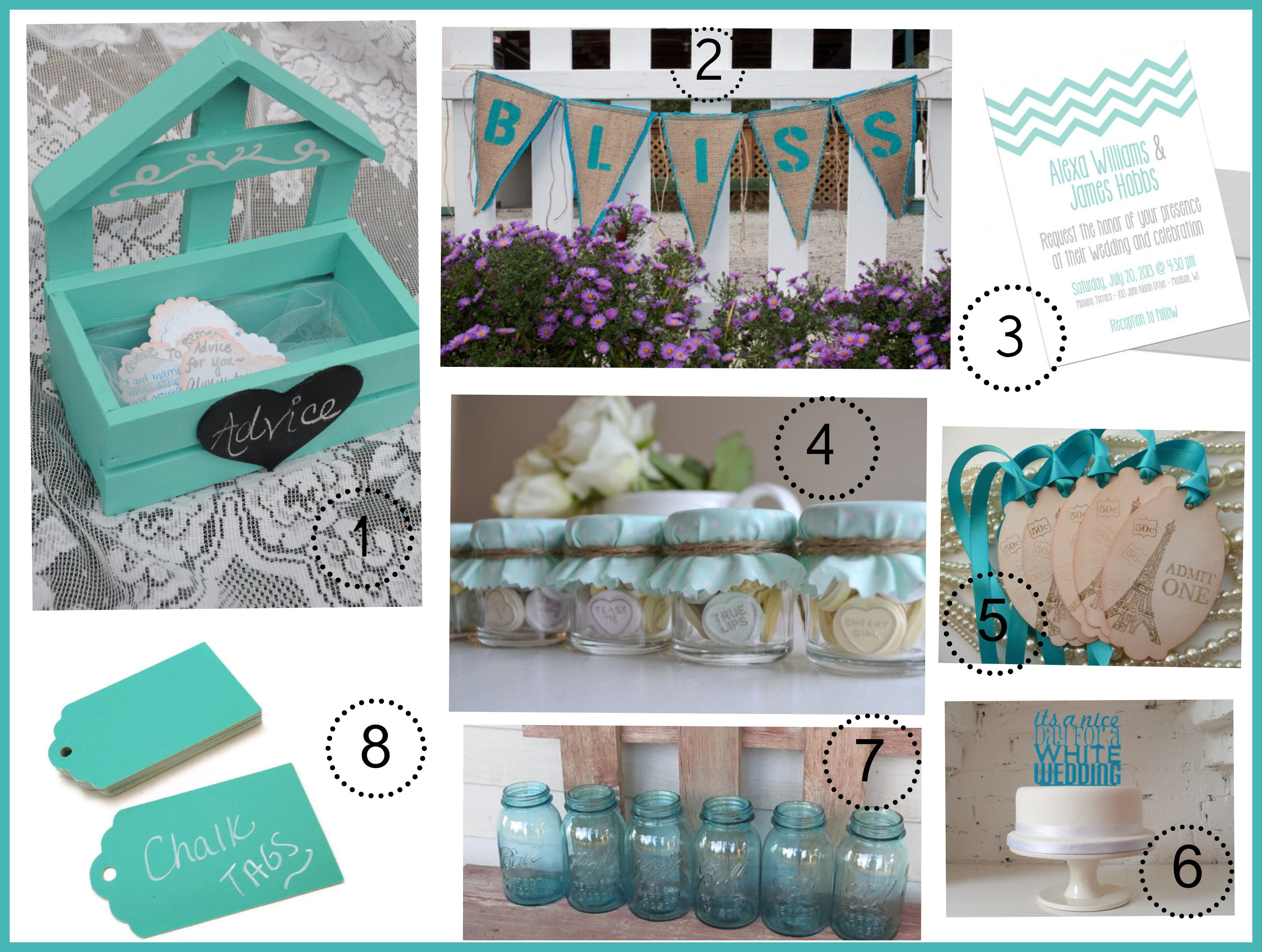 Chocolate And Teal Wedding Reception: Turquoise Wedding Color Theme