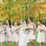 vintage rustic wedding bridesmaids