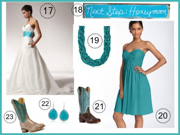 Wedding Dress Styles With Turquoise